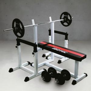 ベンチプレスセット [IROTEC(アイロテック)ストレングスセット70 K] ベンチプレス トレーニング器具 トレーニングマシン 筋力トレーニング バーベル|super-sports