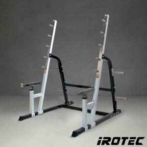 IROTEC(アイロテック)パワースクワットラック/ダンベル・ベンチプレス トレーニング器具 筋トレ トレーニングマシン パワーラック バーベル ハーフラック