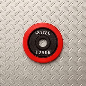バーベル プレート IROTEC(アイロテック)ラバープレート1.25KG /ダンベル ベンチプレス 筋トレ トレーニング器具 鉄アレイ|super-sports