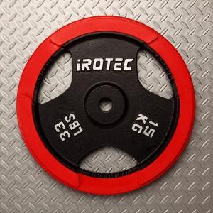 IROTEC(アイロテック)ラバー プレート15KG /バーベルプレート/筋トレ ダンベル トレーニング器具