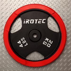 IROTEC(アイロテック)ラバー プレート 20KG / バーベルプレート/筋トレ ダンベル トレーニング器具