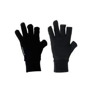 リトルプレゼンツ スパンデックス 3Fレスグローブ ブラック ・フリーサイズ|superbush