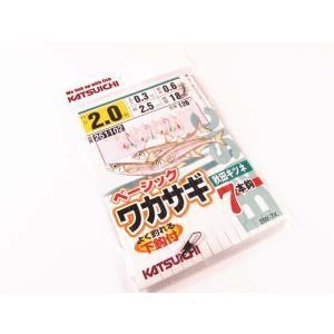 ベーシックワカサギ 秋田キツネ7本ばり 2.0号 ・カツイチ ・メール便可 superbush