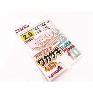 ベーシックワカサギ 秋田キツネ7本ばり 2.5号 ・カツイチ ・メール便可 superbush