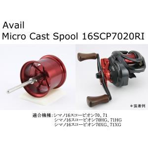 アベイル マイクロキャストスプール 16SCP7020RI レッド|superbush