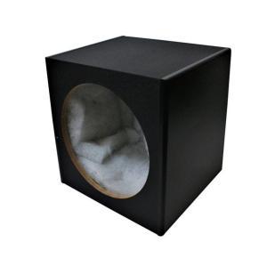 エンクロージャー 12インチスピーカー用 スピーカーボックス 車 ウーファーボックス 約W360×H360×D310mm DIY 自作/ブレイス PL-027 supercal-store