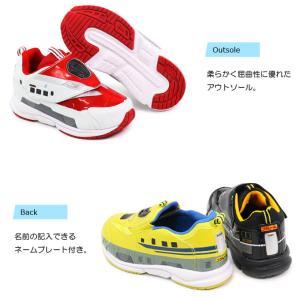 プラレール 靴 スニーカー はやぶさ かがやき キッズ スリッポン|superfoot|05
