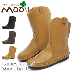 ショートブーツ レディース ブーツ 本革 ペコスブーツ Mooi MF321|superfoot