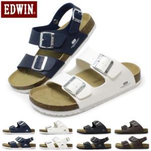 サンダル メンズ フットベットサンダル EDWIN おしゃれ|superfoot