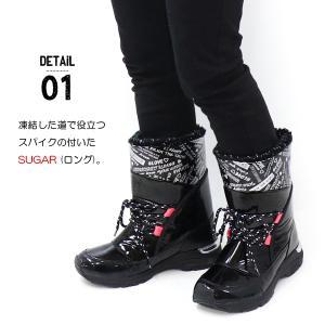 スノーブーツ キッズ ジュニア 女の子 スパイク シュガー J53SP|superfoot|02