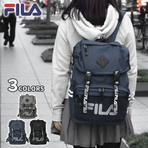 ■ FILA(フィラ)のポリキャンバスを使用したリュックです。 ■ A4サイズも入り、通勤通学などの...