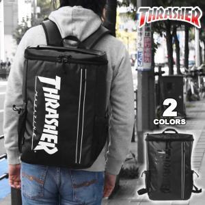 ■ THRASHERのリュックです。 ■ 防水性の高いターポリン素材を使用し、フロントジップポケット...