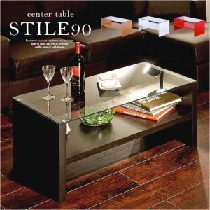 リビングテーブル センターテーブル ガラス製 90幅 STILE スティレ|superkagu