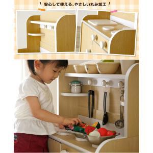 組立品 ままごとキッチン おままごキッチン ままごと キッチン 木製 知育玩具 おもちゃ Mini Cook(ミニクック) 5色対応|superkagu|19