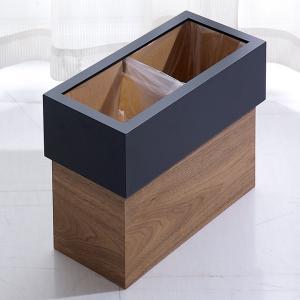 国産 ゴミ箱 角型 木製 ホテルズ ダストボックス|superkagu