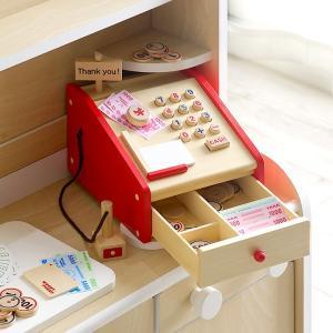 安心の正規品 ままごと はじめてのおままごと レジスター 木製 知育玩具 superkagu