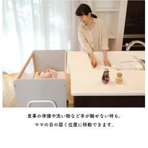 コンパクト ベビーベッド キャスター付き LiLi wagon リリワゴン 2色対応|superkagu|05