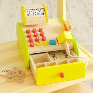ままごと おままごと お店屋さん 森のくるくるピッピ!レジスター 木製 知育玩具 CEマーク