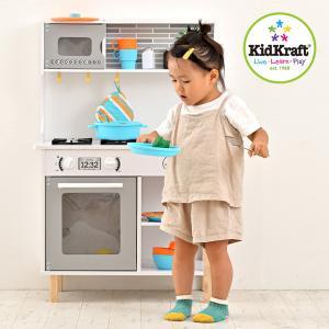 ままごとキッチン 木製 木のおもちゃ ままごとセット おもちゃ39点付き ごっこ遊び KidKraft 初めてのキッチン