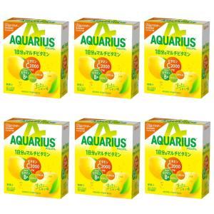 【6221】☆8 アクエリアス 1日分のマルチビタミン パウダー (粉末) 1L用 5袋入×6個(30袋)|superkid