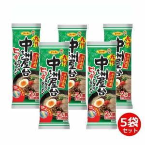 【6213】☆3 サンポー 棒状 九州中洲屋台ピリ辛とんこつラーメン×5袋セット 秘伝スープ付|superkid