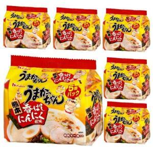 【6213】☆8 インスタントラーメン うまかっちゃん熊本香ばしにんにく風味 5食入り×6個パック(1ケース)ハウス食品 袋麺|superkid