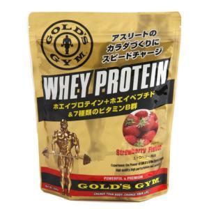 ゴールドジム(GOLD'S GYM) ホエイプロテイン ストロベリー風味 360g 計量スプーン付 ...
