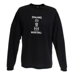 スポルディング(SPALDING) Tシャツ メンズ 長袖 ロングスリーブ バスケットボールモチーフ...
