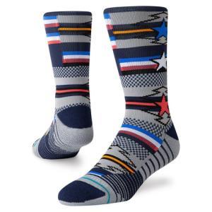 スタンス(STANCE) ランニングソックス STAR SEARCH CREW 靴下 (メンズ、レディース)|SuperSportsXEBIO PayPayモール店