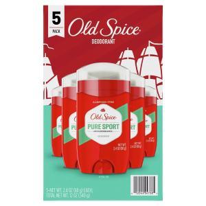 オールドスパイス ピュアスポーツ デオドラント 68g×5個 Old Spice Pure Sport Deodorant 2.4 oz 5 Pack|supla
