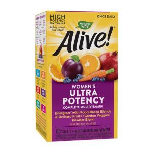 ネイチャーズウェイ アライブワンスデイリー 女性用マルチビタミン 60錠【Nature's Way】Alive!Once Daily Womens supla