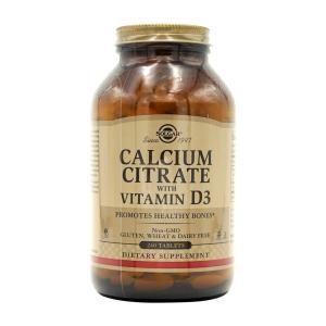ソルガー クエン酸カルシウム ビタミン D3入り 240タブレット【Solgar】Calcium C...