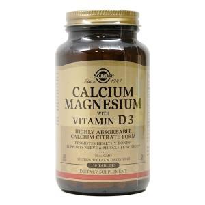 ソルガー カルシウム マグネシウム with ビタミンD3 150 錠 【Solgar】 supla