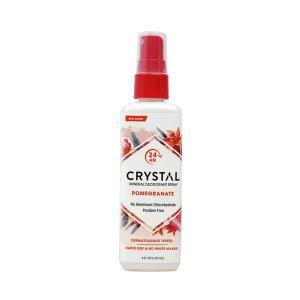 クリスタル ミネラルデオドラントスプレー ザクロ 118ml【Crystal】Essence, Mineral Deodorant Body Spray, Pomegranate 4 fl oz|supla