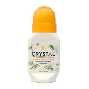 クリスタル ボディデオドラント ロールオン カモミール&グリーンティー 66ml【Crystal】Body Deodorant Roll On, Chamomile & Green Tea 2.25 fl oz|supla