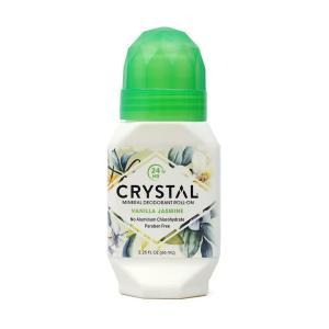 クリスタル ボディデオドラント ロール-オン バニラジャスミン 66ml【Crystal】Body Deodorant Roll-On, Vanilla Jasmine 2.25 fl oz|supla
