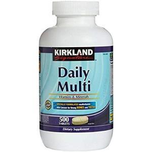 Kirkland Signature Daily Multi Vitamins & Minerals Tablets, 500 カークランドシグネチャーデイリーマルチビタミン&ミネラルタブレット500錠 supla