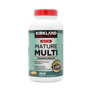 Kirkland Signature Adults, 50 plus Mature Multi Vitamins & Minerals, 400 Tablets 、50人以上の成人向けマルチビタミン・ミネラル,400錠 supla