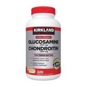 Kirkland Extra Strength Glucosamine HCl Chondroitin Sulfate カークランド エキストラストレングス グルコサミン&コンドロイチン 220粒|supla