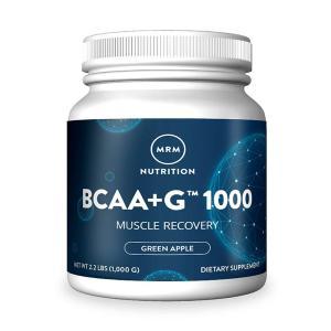 エムアールエム BCAA(分岐鎖アミノ酸) + G 1000 グリーンアップル味 1000g MRM BCAA + G 1000, Green Apple, 2.2 lbs (1000g)|supla