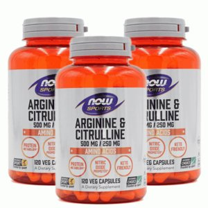 ナウスポーツ アルギニン500mg&シトルリン250mg 120粒 3本セット NOW SPORTS L-Arginine 500mg & Citrulline 250mg 120CAP 3set NOW FOODS|supla