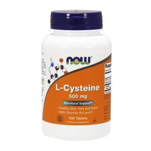 ナウフーズ Lシステイン 500mg 100錠 L-Cysteine 500mg 100tablets Now Foods|supla
