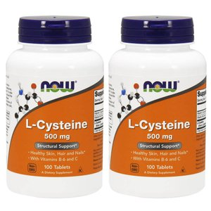 ナウフーズ Lシステイン 500mg 100錠 2本セット L-Cysteine 500mg 100tablets 2set Now Foods|supla