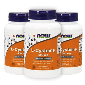 ナウフーズ Lシステイン 500mg 100錠 3本セット L-Cysteine 500mg 100tablets 3set Now Foods|supla