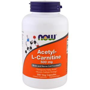 ナウフーズ アセチル-L-カルニチン 500mg 200錠 NOW FOODS Acetyl-L-Carnitine 500 mg 200 Veg Capsules|supla