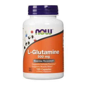 ナウフーズ L-グルタミン 500mg 120ベジカプセル【NOW FOODS】L-GLUTAMINE 500mg 120VCAPS|supla