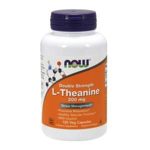 ナウフーズ ダブルストレングス L-テアニン 200mg 120錠 NOW FOODS Double Strength L-Theanine 200 mg 120 Veg Capsules|supla