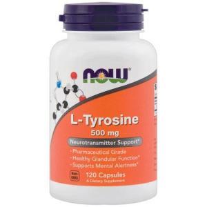 ナウフーズ L-チロシン 500mg 120錠 NOW FOODS L-Tyrosine 500 mg 120 Capsules|supla