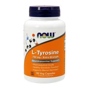 ナウフーズ L-チロシン エクストラストレングス 750mg 90カプセル Now Foods L-Tyrosine, Extra Strength 750 90 Capsules|supla