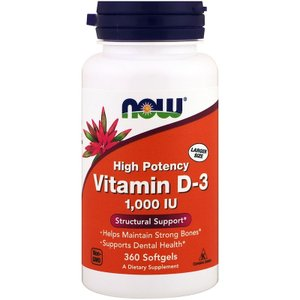 ナウフーズ ビタミン D-3 1000IU 360錠 NOW FOODS Vitamin D-3 1000IU 360caps|supla